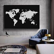 MYBHGRFDG Peintures abstraites de Carte du Monde