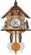 MYBOON Antique Bois Coucou Horloge Murale Oiseau