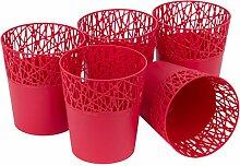myBoxshop Lot de 5 pots à herbes à fleurs avec