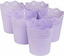 myBoxshop Lot de 5 pots de fleurs de 0,9 l Ø 11,5
