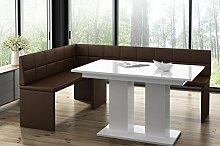 MyStyleWood Banc d'angle Marta avec table à
