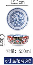 Mzxun Bol en céramique Accueil Art de la table et