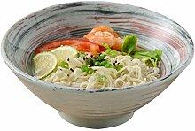 Mzxun Bol en céramique bol japonais Ramen culture