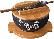 Mzxun Bol en céramique de style japonais Ramen