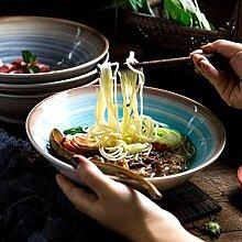 Mzxun Bol japonais en céramique de style Ramen