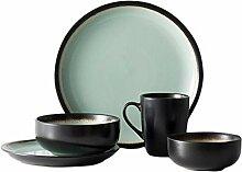Mzxun Bowl Vintage Sets de table en céramique,