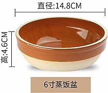 Mzxun Céramique étuvé riz étuvé oeuf cuit à