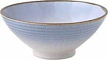 Mzxun Chinois bleu Céramique bol style Art de la