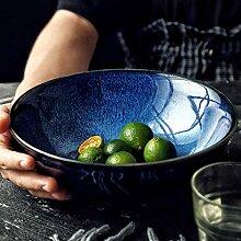Mzxun Creative Bowl Bleu céramique Bowl