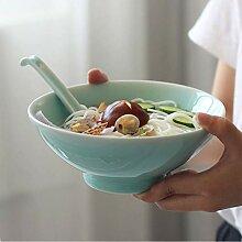 Mzxun Creative Bowl couleur solide en céramique