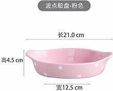 Mzxun Plaque Céramique japonaise Creative Double