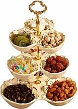 Mzxun Plaque de fruits en céramique à trois