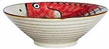 Mzxun Soupe en céramique Bowl Anti-Skid ligne