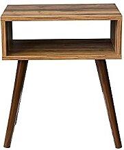 MZXUN Table de café côté couvert en bois