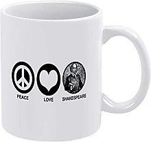 N\A 11 oz Tasse à café en céramique Paix Amour