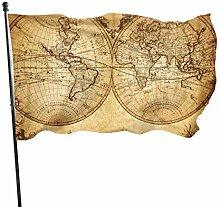 N/A Ancienne Carte du Monde avec Les frontières