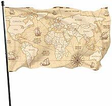 N/A Ancienne Carte du Monde avec Les Pays