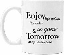 N\A asse à café drôle Profitez de la Vie