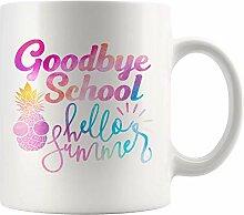 N\A Au Revoir école Bonjour été drôle Tasse