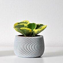 N A Cache-Pot Design Waves (Marbre)