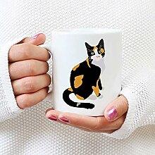 N\A Calico Cat Mug Calico Lover Calico Mom Calico