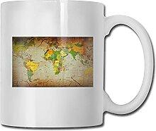 N\A Carte du Monde Pays Tasse à café en