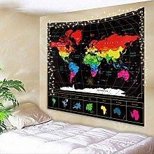 N\A Carte du Monde Tapisserie géographie