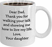 N\A Cher Papa de Fille Tasse de café Tasse de