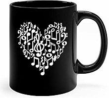 N\A Coeur de Symboles de Musique, Tasse Noire de