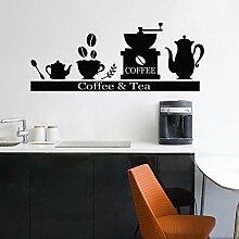 N\A Comptoir Stickers Muraux Cafetière Thé