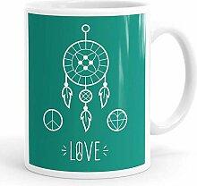 N\A Dreamcatcher Peace and Love Tasse à café