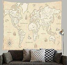 N\A Europe Antique Grand Détail Carte du Monde