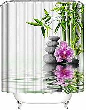 N/A Fleurs de Galets, Bambou, Fond Blanc