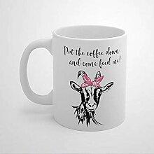 N\A Goat Lover Farmer Farm Girl Unique 11oz Coffee