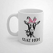 N\A Goat Mom Lover Farmer Farm Girl Lovers Tasse