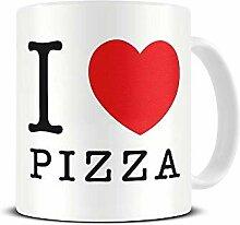 N\A J'aime la Pizza - Coeur - Gourmand - Tasse