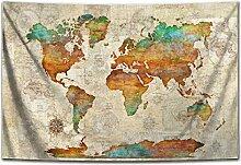 N\A Tapisserie de la Carte du Monde