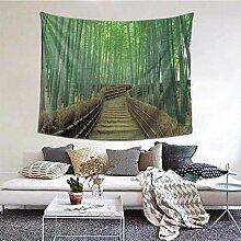 N\A Tapisseries d'art de Mur de forêt de