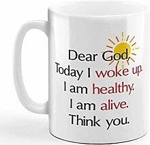 N\A Tasse à café 11 onces Cher Dieu