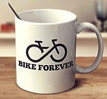 N\A Tasse à café Bike Forever White 11 oz