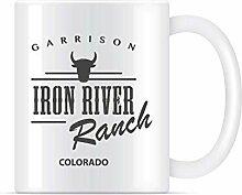 N\A Tasse à café Classique Iron River Ranch pour