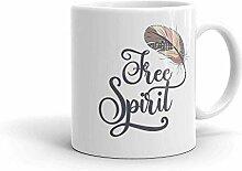 N\A Tasse à café d'esprit Libre inspirante