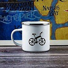 N\A Tasse à café en émail avec poignée