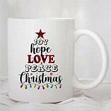 N\A Tasse à café, Joie Espoir Amour Paix Tasse
