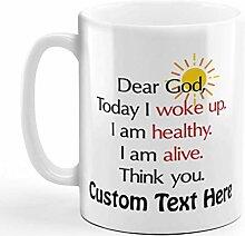 N\A Tasse à café personnalisée 11 onces Cher