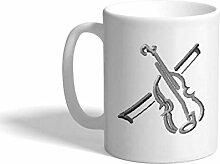 N\A Tasse à café personnalisée 11 onces Violon
