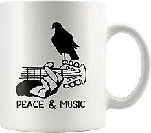 N\A Tasse de Paix et de Musique pour Fan de Rock &