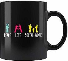 N\A Tasse de Travail Social d'amour de Paix