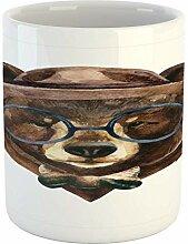 N\A Tasse de Visage, Ours des Bois avec Lunettes