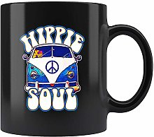 N\A Vintage Van Hippie Soul Mug pour Amateur de